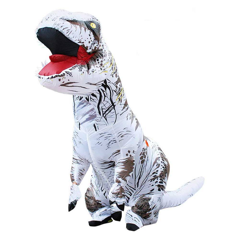WSJDPP Halloween Props Riding dinosaurInflatable Clothing Fun Toys Polyester Material Suit for Gifts Bar Props Supplies Festival Halloween Party,White by WSJDPP
