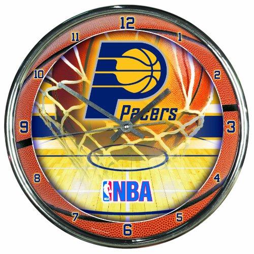 NBA Indiana Pacers Chrome Clock