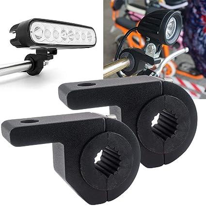 Motorbike Handlebar Clamps 1.8 inch//1.7 inch Pack of 2 Led Light Bar Bracket Biqing Motorcycle Spotlight Mounting Brackets