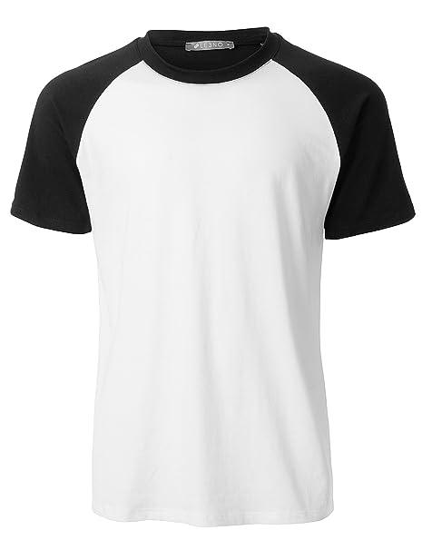 b0c67f331687 LE3NO Mens Casual Color Block Short Sleeve Raglan T Shirt | Amazon.com
