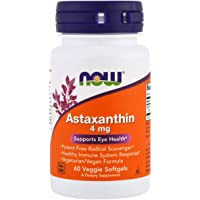 NOW Supplements, Astaxanthin 4 mg, features Zanthin®, 60 Veg Capsules