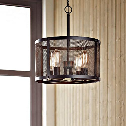 KARMIQI 4-Light Industrial Pendant Light Fixture Bulbs Included