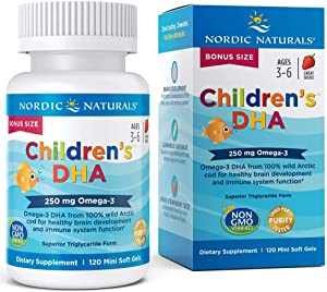 Nordic Naturals Children's DHA Strawberry - Children's Fish Oil Supplement for Healthy Cognitive Development and Immune Function*, Bonus Size 120 Count