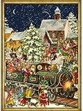 Victorian Christmas Train German Advent Calendar (approx 10.5 x 14-inches) (765)