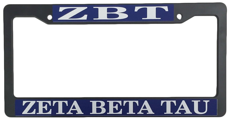 Zeta Beta Tau Becken schwarz Kunststoff Nummernschild Rahmen ...