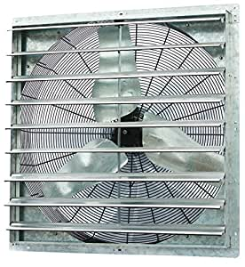 Iliving ILG8SF36S Wall-Mounted Single Speed Shutter Exhaust Fan, 36""