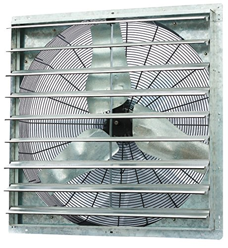 Iliving 36 Inch Single Speed Shutter Exhaust Fan, Wall-Mounted, 36