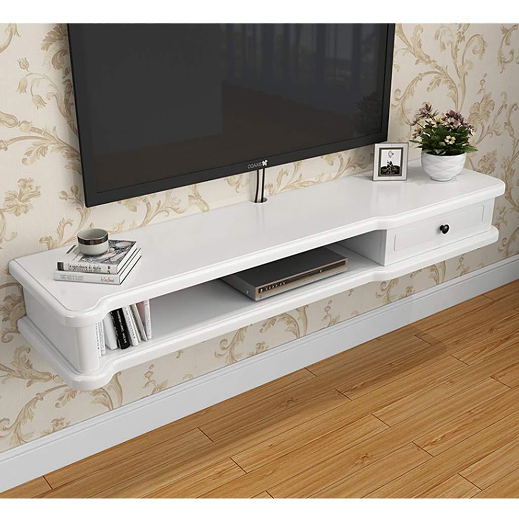 フローティング壁掛けテレビコンソールテレビスタンドコンポーネントシェルフテレビキャビネットメディアコンソールオーディオ/ビデオコンソール用ケーブルボックスルーターリモコンDVDプレーヤーゲーム機 (Color : A, Size : 100cm) B07T6T1SVB A 100cm