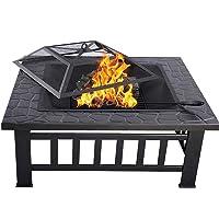 Feuerstelle XXL schwarz Fire Pit ✔ eckig