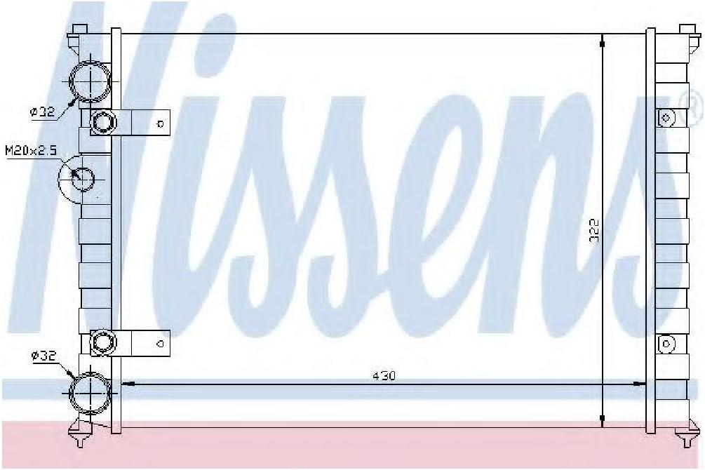 Nissens 639981 K/ühler Motork/ühlung