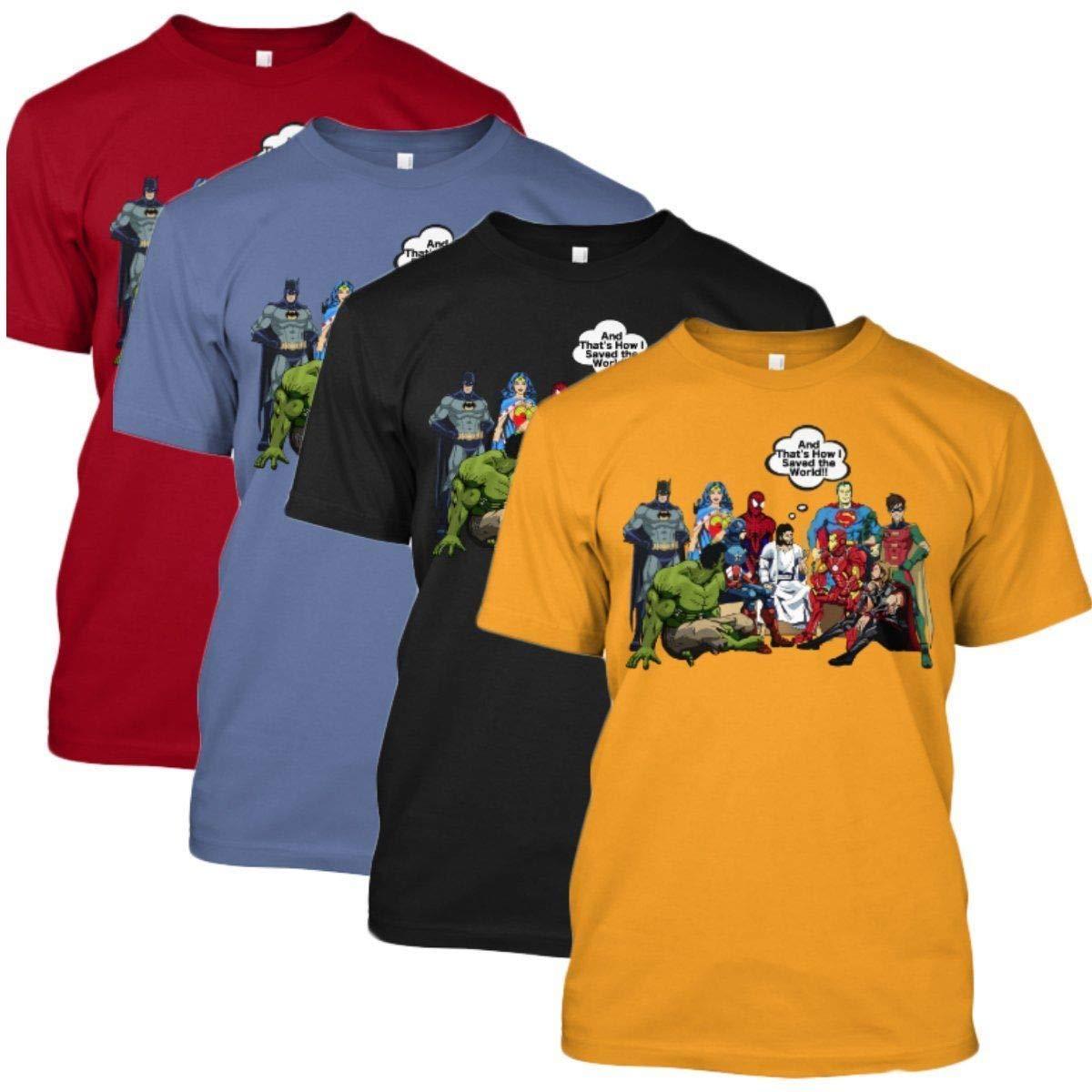 jesus and superheroes shirt