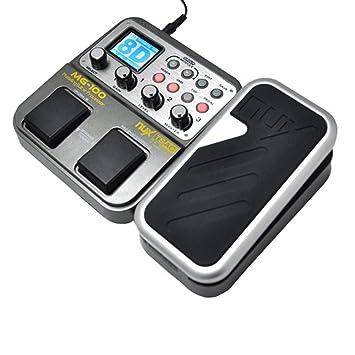 NUX MG-100 Guitarra Eléctrica Multi-efectos Pedal Procesador EFX AMP EQ Mezclador
