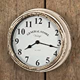 Distressed Vintage Style Wall Clock Country Decor (General Store)