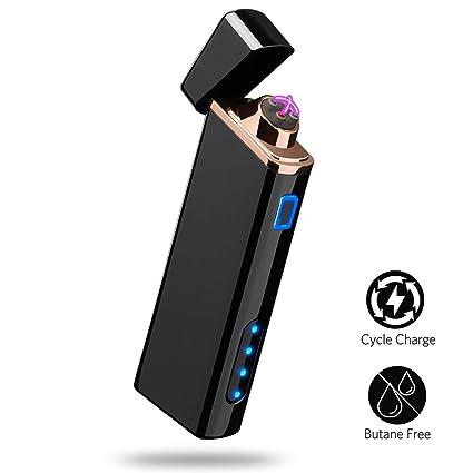 Amazon.com: Mechero eléctrico con pantalla de batería USB ...