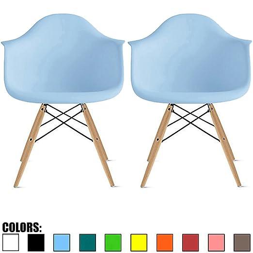 Juego de 2 sillones de Madera Natural Eames Style 2 Unidades ...