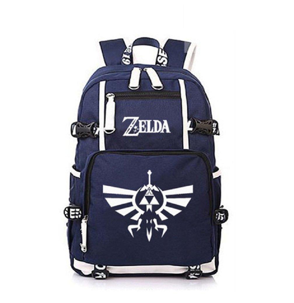 YOYOSHome Luminous Anime The Legend of Zelda Cosplay Daypack Bookbag Laptop Bag Backpack School Bag (Blue 1)