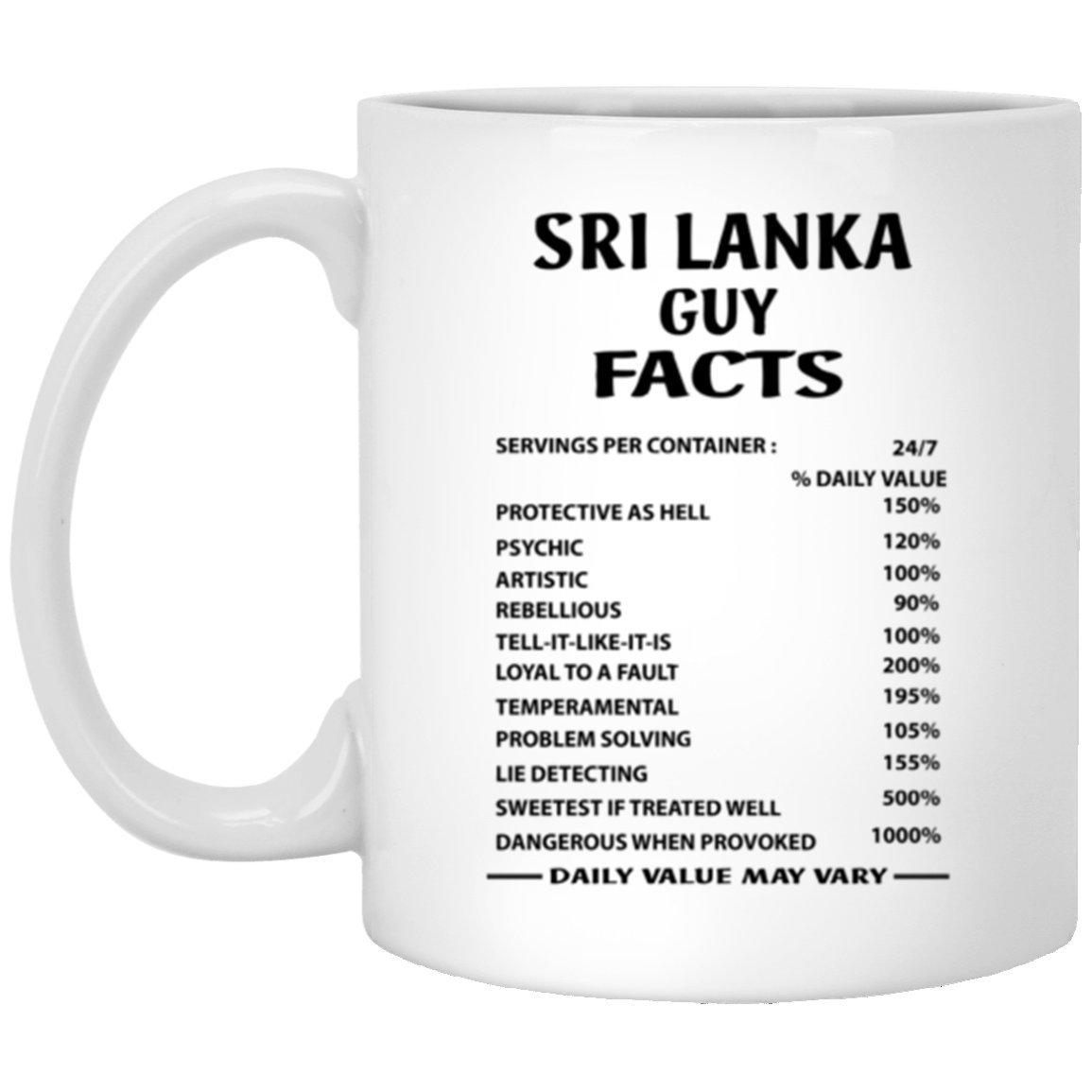 Amazon Com Sri Lanka Guy Facts Coffe Mug Novelty Gift For Dad