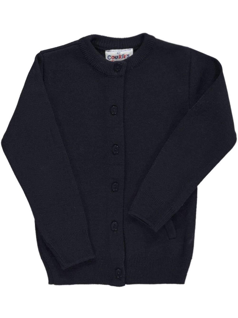 Cookie's Brand Big Girls' Crewneck Cardigan Sweater - Navy, 10 by Cookie's Kids (Image #1)