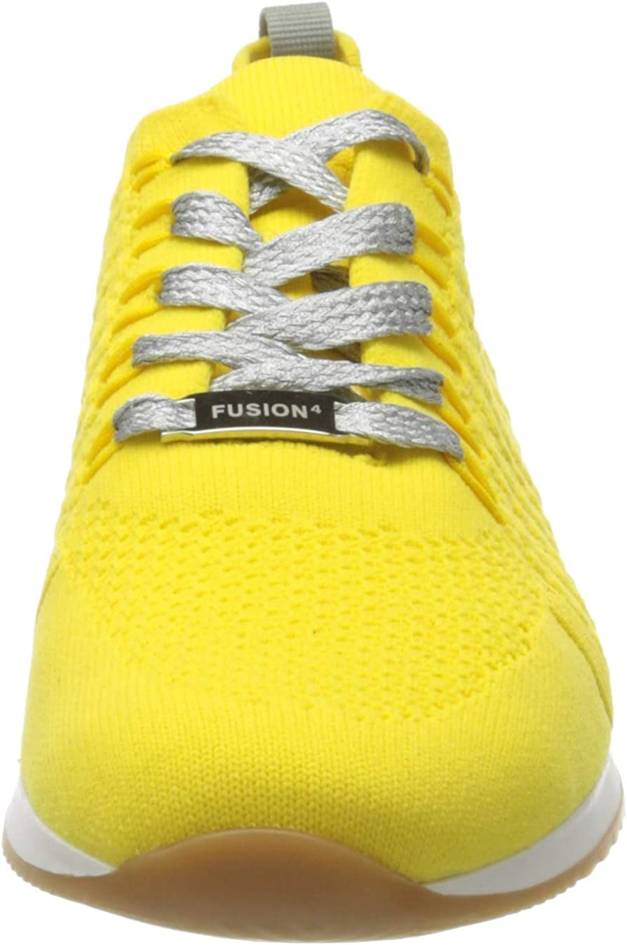 ARA Damen Lissabon Sneaker Grau Citrus Silber 06