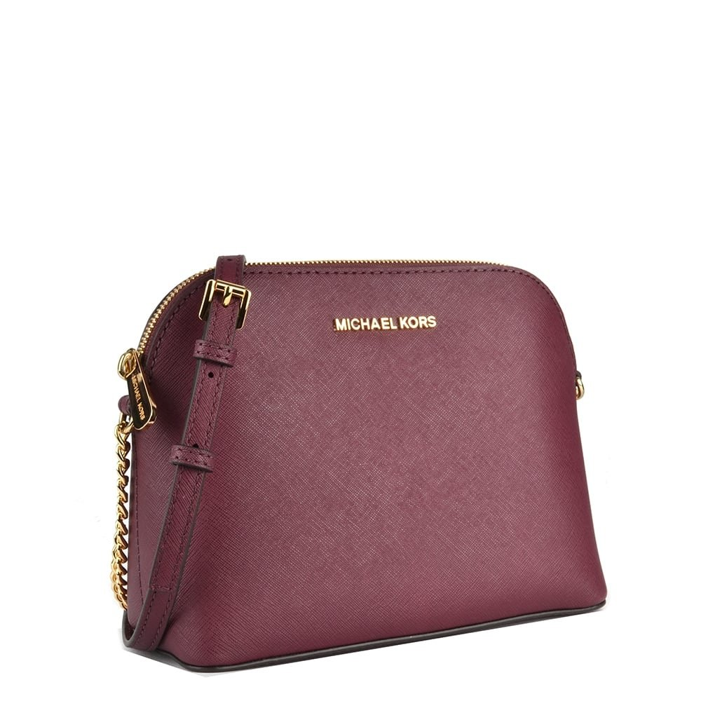 dfeeddf34e1d MICHAEL by Michael Kors Cindy Plum Large Dome Crossbody one size Plum:  Amazon.co.uk: Shoes & Bags