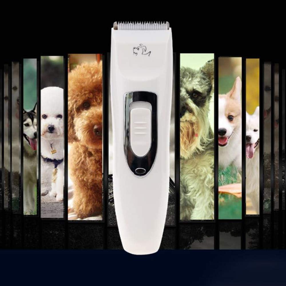 CLL Cortapelos para Perros, cortapelos silencioso para Mascotas, cortapelos para Perros de Peluche, Herramienta de peluquería eléctrica para Mascotas, Blanco