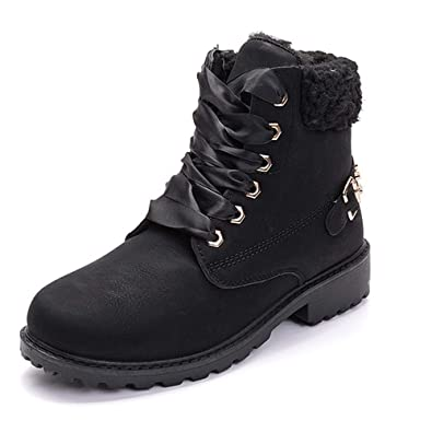 Women Black Sole Snow Ankle Boot Waterproof High Top Fur Thick Casual Shoes Plus Boots Clothing, Shoes & Accessories