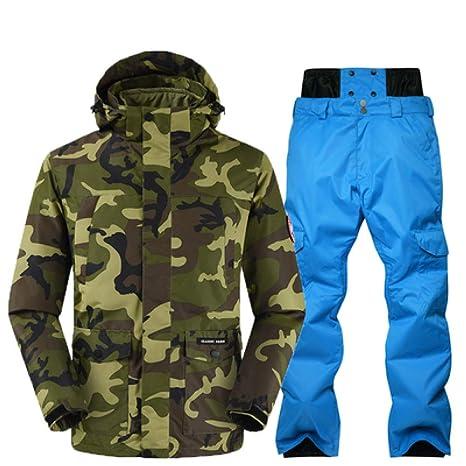 4aa24c434fda0 KUNHAN Abbigliamento da sci per uomo Tuta da Sci Invernale da Uomo Cappotto  di Alta qualità