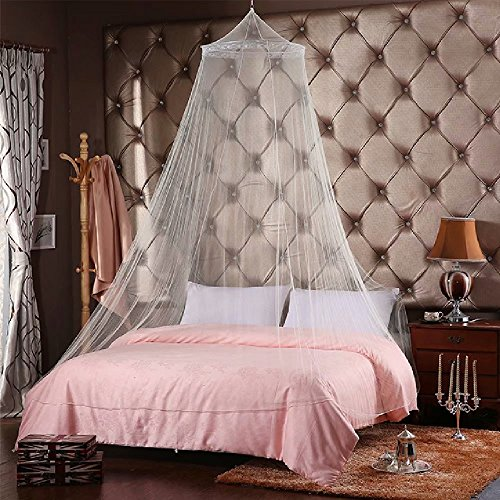 QMET Jumbo Mosquito Net for Bed, Queen Size, White, 1