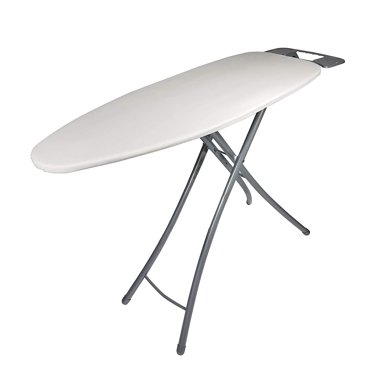 Wide-Top Ironing Board 4-leg design 100% cotton cover Garment hanger, Cream by HOMZ [並行輸入品] B06ZYJD98N