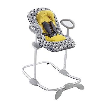 Béaba 915021 - Hamaca bebe regulable en altura, unisex, color amarillo y gris