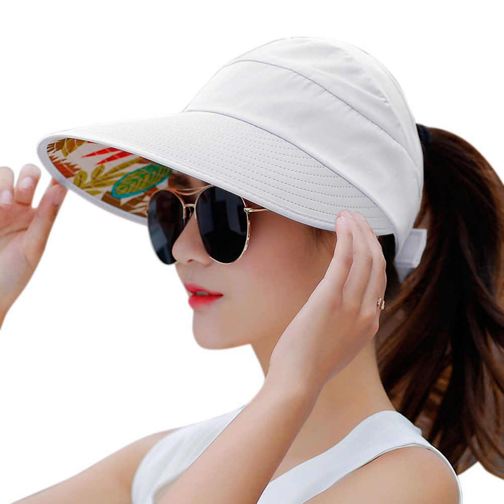 HindaWi Sun Hats for Women Wide Brim Sun Hat UV Protection Visor Floppy Beach Packable Caps