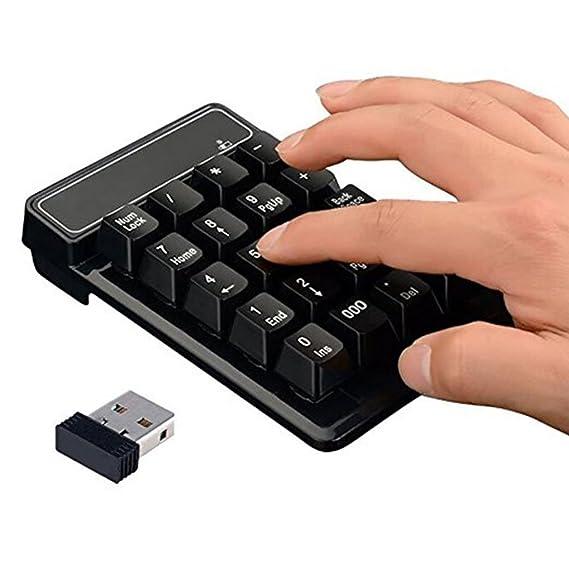 ZREAL Teclado Numérico Numérico Numérico Inalámbrico de 19 Teclas 2.4G Numático para PC Portátil Tablet PC de Escritorio: Amazon.es: Electrónica