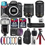 Holiday Saving Bundle for D7100 DSLR Camera + AF-P 70-300mm VR Lens + AF-P 18-55mm + Flash with LCD Display + Battery Grip + 6PC Graduated Color Filter Set + 2yr Warranty - International Version
