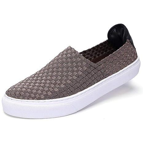 YAN Zapatos de Hombre Mocasines y Slip-Ons Paño Tejido Otoño e Invierno Zapatos de
