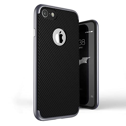 23 opinioni per Custodia iPhone 7 Cover , ivencase [Stile Anti-Scratch] [Hybrid Silicone +
