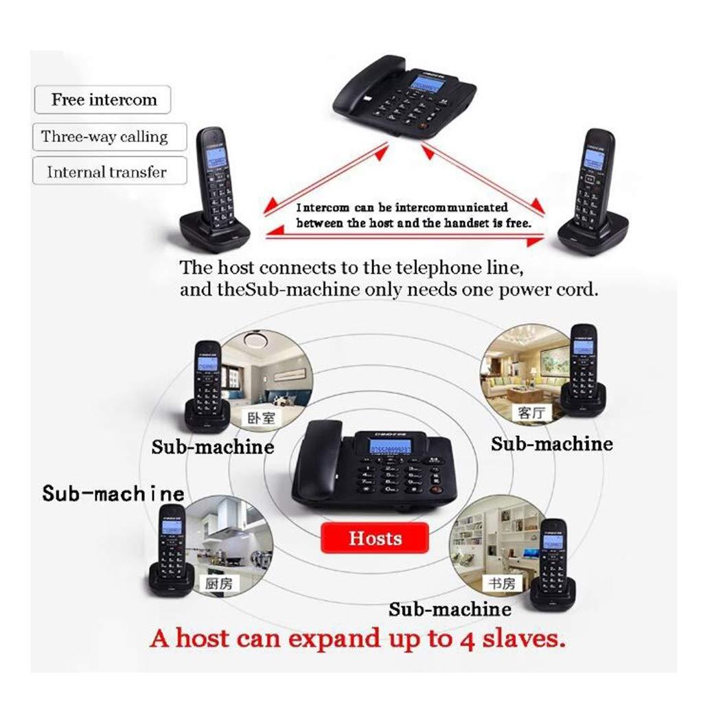 Telephone, Digital Cordless Telephone, Smart Wireless Fixed Telephone Landline (Color : White, Size : C) by CQH (Image #1)