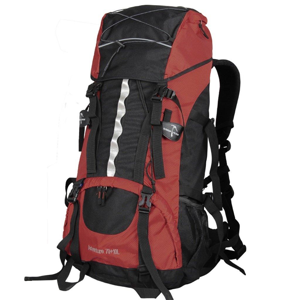 LISH Outdoor-Mode Wasserdichte Wandertasche für Männer und Frauen Casual Sporttasche (Farbe : ROT)