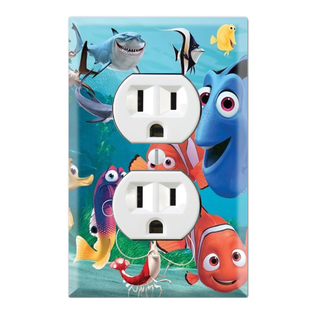 Duplex Wall Outlet Plate Decor Wallplate - Finding Nemo Dory Decorate Plus