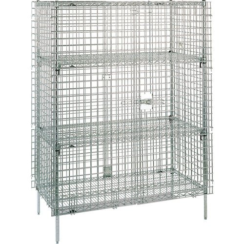 (Metro SEC66C Super Erecta Chrome Plated Heavy Gauge Wire Stationary Security Storage Unit, 62-1/2