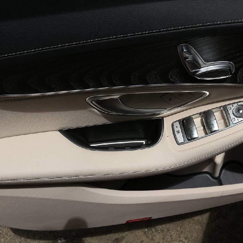 Kunststoff Auto T/ür Armlehne Griff Aufbewahrungsbox Zubeh/ör Schwarz f/ür LHD Linkslenker C Klasse W205 GLC X253 2015-2018