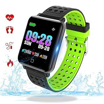 Fitness Tracker con Monitor de Ritmo cardíaco Bluetooth Smartwatch con presión Arterial Tasa de oxígeno Loop Actividad de Salud Reloj Pulsera ...