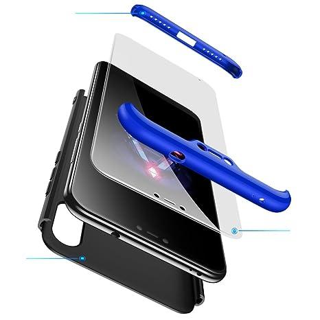 GoodcAcy Funda Xiaomi Mi A2 Lite,Carcasa Móvil de Protección de 360°+ Cristal Templado HD Protector de Pantalla 3 en 1 Desmontable con Caso Case Cover ...