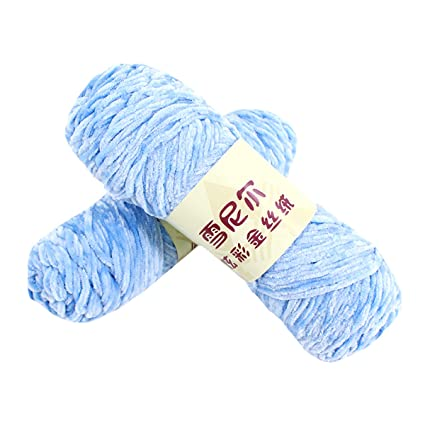 1deb48f21ce Amazon.com  CY 2PCs Classic Velvet Yarn Ball for Crochet   Knitting ...
