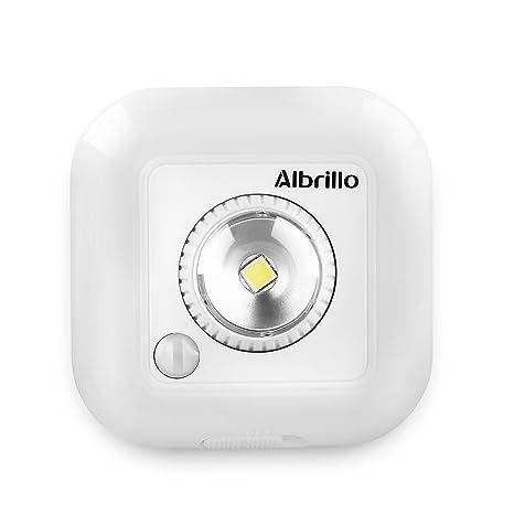 Albrillo - Lámpara nocturna Sensor inalámbrico (luz de noche de pilas, sensor de movimiento