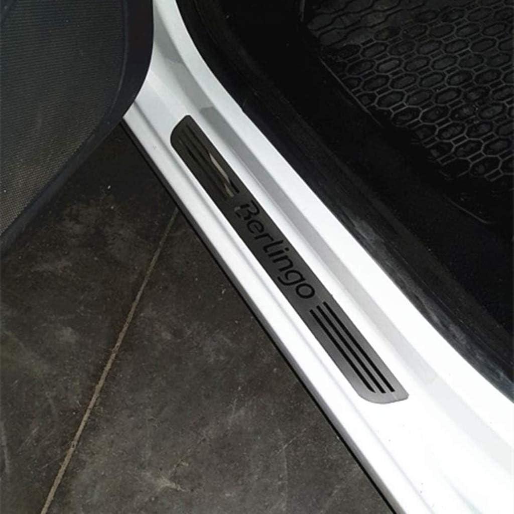 YCGLX 4 St/ücke F/ür Citroen Berlingo B9 MK2 II 2008-2019 Edelstahl Auto Schwelle Schutz Einstiegsleisten Pedal Door Sill Aufkleber Kratzschutz Abdeckung Dekor Zubeh/ör