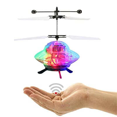 Momola RC avion volant drone jouet main volant OVNI balle LED mini induction suspension