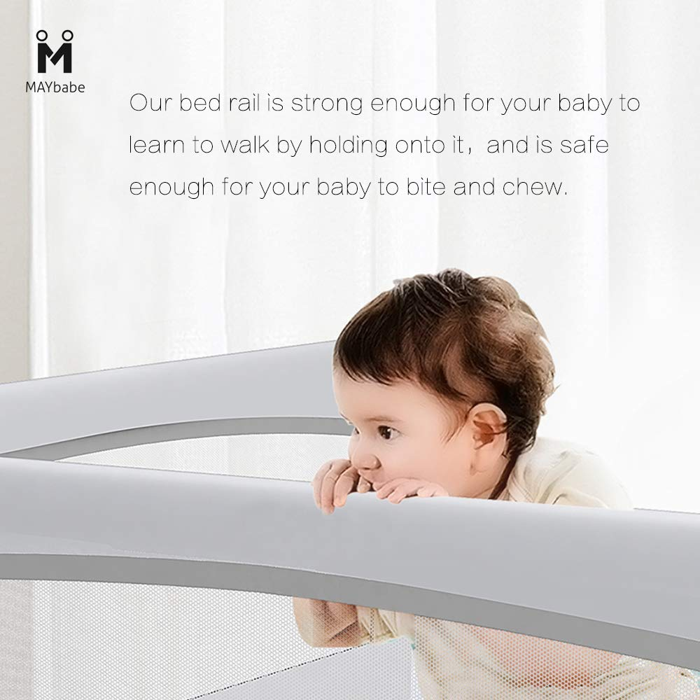 MAYbabe Bed Rails for Toddlers-Extra Long and Tall Infants Guardrail(Guard for Kids Twin,Double,Full Size Queen&King). (59in) by MAYbabe (Image #4)