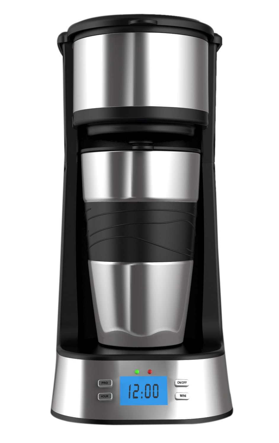 Coffee maker Machine, Webat Personal One Cup Coffee with Travel Coffee Mug Coffee Dripper Brew, Black