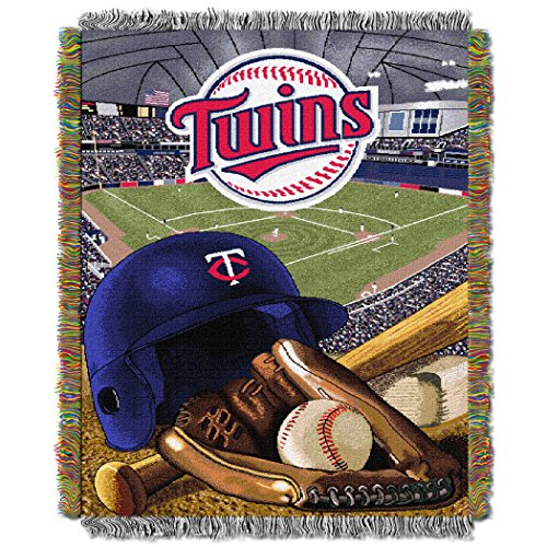 The Northwest Company MLB Minnesota Twins Home Field Advantage Woven Tapestry Throw, 48