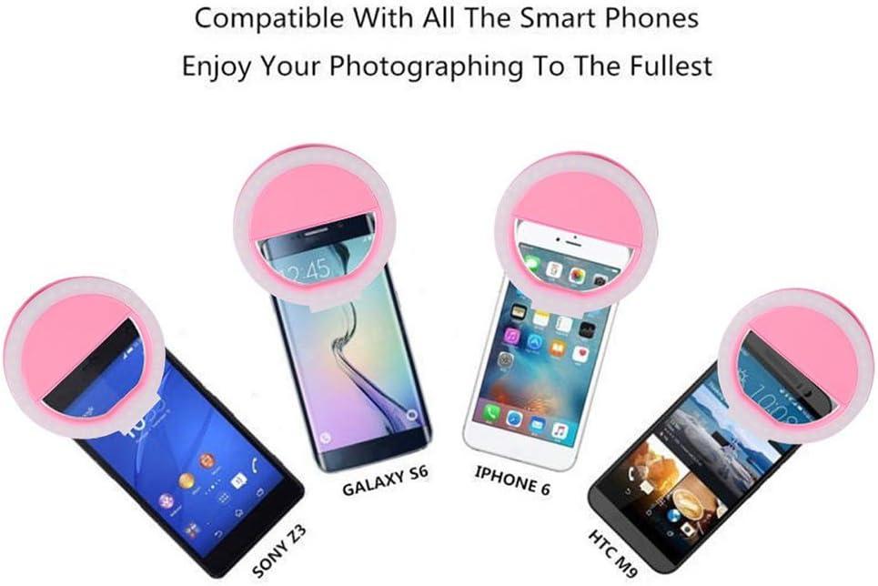 Lentille DYE Lentille Moment LED Selfie Universal Flash Annulaire Lumi/ère T/él/éphone Mobile Portable 36 LEDs Selfie Lampe Anneau Lumineux Clip pour Iphone 8 7 6 Plus Samsung,Blanc